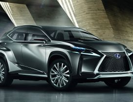 Gray Crossover Lexus Concept Car