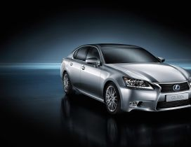 Beautiful gray Lexus GS 300H - Car wallpaper
