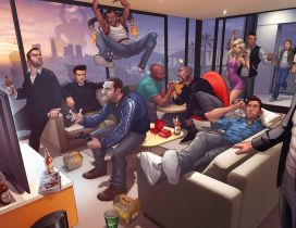 Many characters of Grand Theft Auto Game