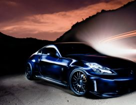 Blue Nissan 350 Z tuning - Fantasy wallpaper