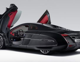 Black McLaren X1 with opened doors