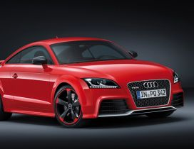 Red Audi TT RS Plus - HD wallpaper