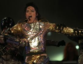The great Michael Jackson at concert