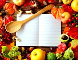 Your secret book with food recipes