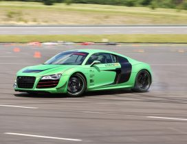 Green Racing One Audi R8 on track