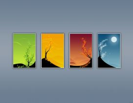The four season in a year - HD wallpaper
