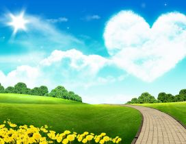 Big heart on the sky - beautiful nature landscape