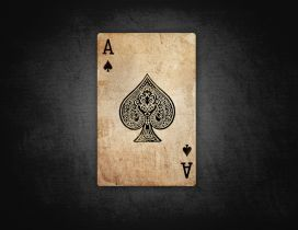 Poker time - dirty ace of spades