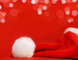 Red Christmas hat - Santa Claus and presents