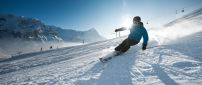 Sunny winter day perfect for skiing - winter sports