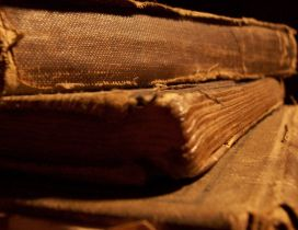 Old books full with History - Macro HD wallpaper