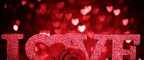 I love you - beautiful red wallpaper - Happy Valentine's Day