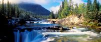 Wonderful landscape nature - mountain river