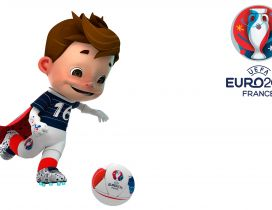 Funny mascot for UEFA Euro 2016 France