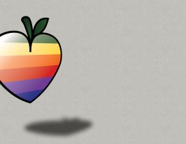 Rainbow apple - funny wallpaper