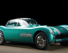 Old classic car - beautiful turquoise color