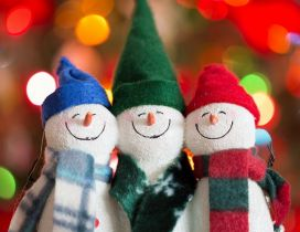 Three little snowmen - Smile for Christmas night