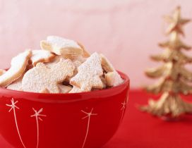 Cup full with Christmas cookies - HD winter wallpaper