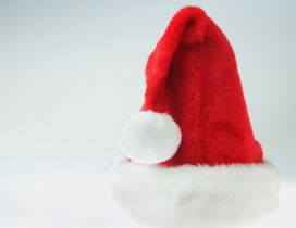 Red Christmas hat - Happy Winter Holiday