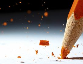 Macro orange crayon - HD creative wallpaper