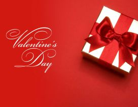 Red love wallpaper - magic gift for Valentines Day