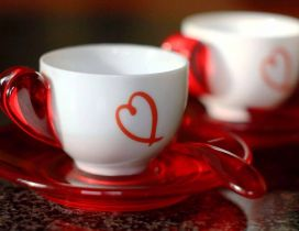 Sweet coffee cups - Love is in a cup of coffee