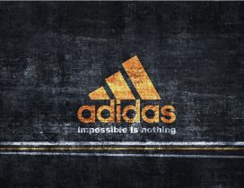 Adidas logo - Impossible is nothing