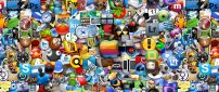 Millions of internet logos and brands - HD wallpaper