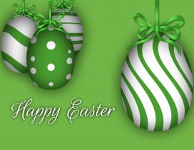 Happy Easter 2017 - Green Chocolate eggs