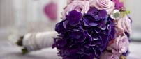 Purple and pink flowers - Wonderful bridal bouquet