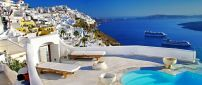 Wonderful summer Holiday in Santorini - Blue water