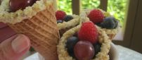 Fruit ice-cream in Autumn season - Vitamins of nature