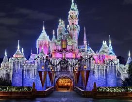 Disneyland Paris in winter spirit - HD wallpaper