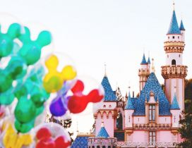 Colorfull balloons with Mickey Mouse on Disneyland Paris