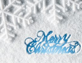 Merry Christmas - Message with snow on the window