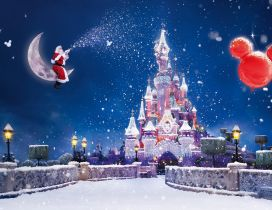 Happy winter holidays on Disneyland Paris - Merry Christmas