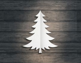Paper Christmas tree - Happy winter holiday