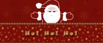 Ho Ho Ho Santa Claus is coming tonight - HD red Christmas