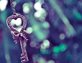 The key from my heart - Silver and special Valentines Day