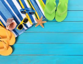 Staffs for a beautiful summer holiday - flip flop shoes