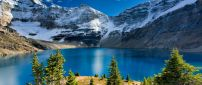 Blue mountain lake in the middle of the nature -HD wallpaper