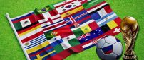 One flag with all country flag in Fifa World Cup Russia 2018