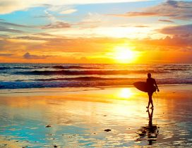 Good morning beautiful sunrise - Summer water sports