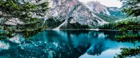 Wonderful blue water - Mirror in the mountain lake
