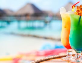 Two delicious summer cocktails - Fresh and cold drink