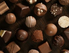 Funny chocolate candy - Delicious plate for friends