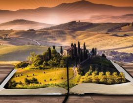 Small Italian country side in a book - Wonderful view