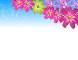 Heart on the blue sky - Flower power wallpaper