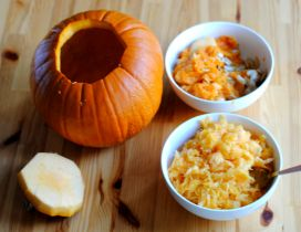 Delicious pumpkin soup - Autumn food