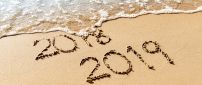 Bye bye 2018- Start a new year - Happy 2019 at the seaside